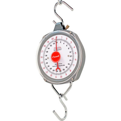 Escali H11060 H-Series Hanging Scale, High Capacity, 110lb x 8oz/50kg x 0.2kg, Stainless Steel