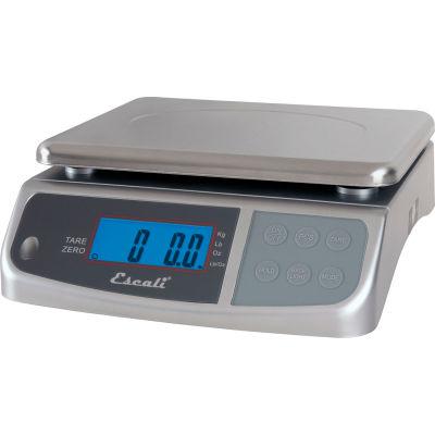 Escali M3315 M-Series Digital Kitchen Scale, 33lb x 0.2oz/15kg x 5g, Stainless Steel
