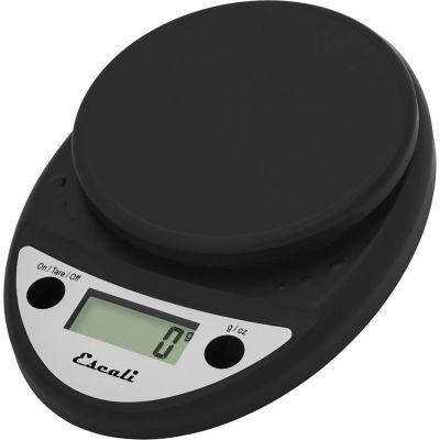 Escali P115CH Primo Compact Digital Scale, 5000 g x 1 g, Black
