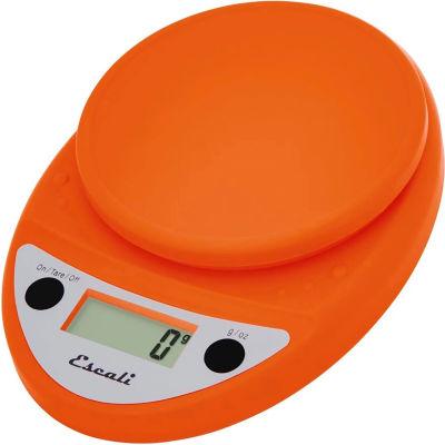 Escali P115PO Primo Compact Digital Scale, 5000 g x 1 g, Orange