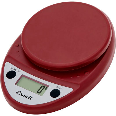Escali P115WR Primo Compact Digital Scale, 5000 g x 1 g, Warm Red