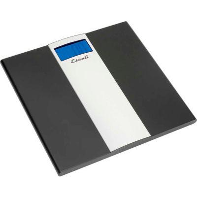 Escali US180B Digital Sleek Bathroom Scale, 400lb x 0.2lb/180kg x 0.1kg, Stainless Steel Platform