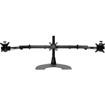 Ergotech® Triple Horizontal Desk Stand with Telescoping Wings, Black
