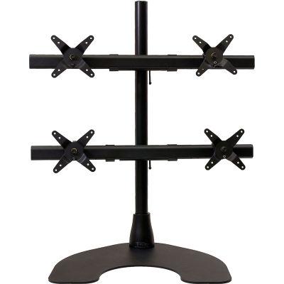 Ergotech® Quad 2 over 2 Desk Stand, Black