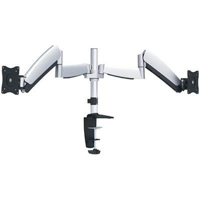 Ergotech® 320 Series Articulating Dual Monitor Arm, Silver