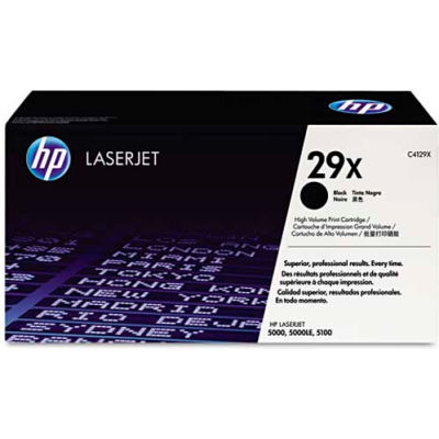 HP® HP 29X, (C4129X) High Yield Black Original LaserJet Toner Cartridge