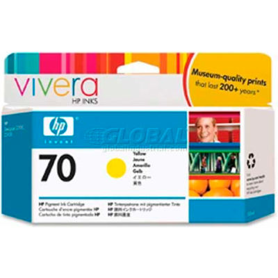 HP® 70 Ink Cartridge C9454A, Yellow