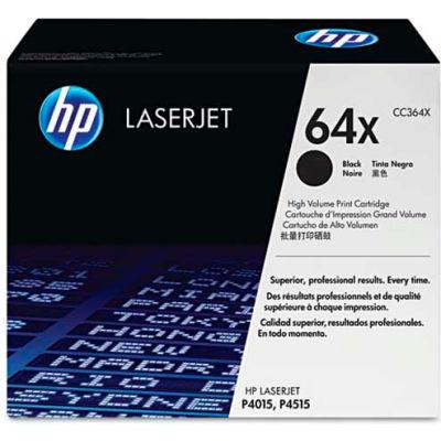 HP® HP 64X, (CC364X) High Yield Black Original LaserJet Toner Cartridge