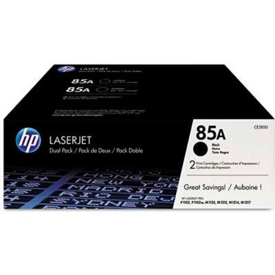 HP® HP 85A, (CE285D) 2-pack Black Original LaserJet Toner Cartridges