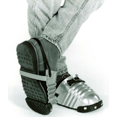 """Ellwood Safety Men's Metal Foot Guards, Steel Toe Clip, Rubber Strap, 5-1/2""""W, Large, 1 Pair"""