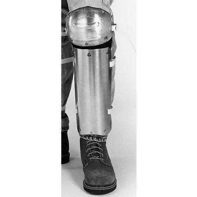 "Ellwood Safety Knee-Shin Guards, Web Straps, Aluminum Alloy, 14""L x 5""W, 1 Pair"