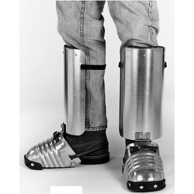 """Ellwood Safety Men's Foot-Shin Guards, Steel Toe Clip, Rubber Strap, 5-1/2""""W, Large, 1 Pair"""