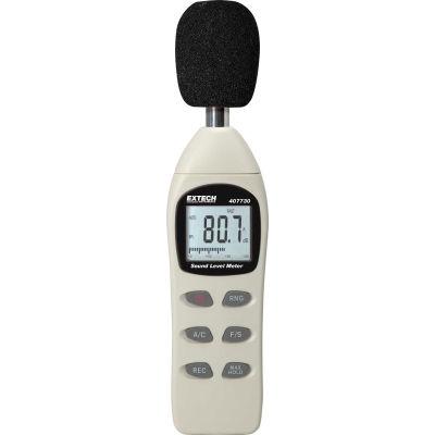 Extech 407730 Digital Sound Level Meter, Plastic, 4 AAA batteries