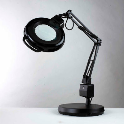 """Electrix 7126 5-Diopter Lens Fluorescent Magnifier W/Weighted Base, 30"""" Reach, 120V, 22W"""
