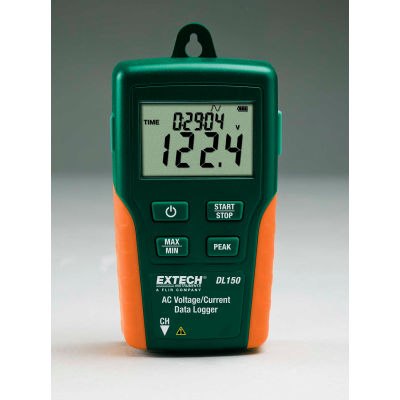 Extech DL150 True RMS AC Voltage/Current Datalogger, Green/Orange, Case Included