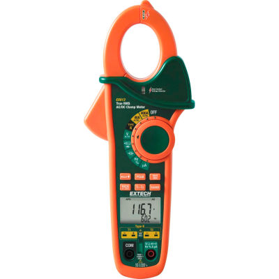 Extech EX613-NIST Clamp Meter, Orange/Green NIST Certified