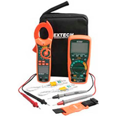 Extech MA620-K Industrial DMM/Clamp Meter Test Kit, Orange/Green
