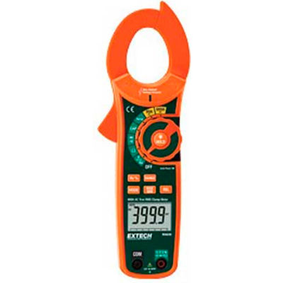 Extech MA620-NIST True RMS AC Clamp Meter & NCV, Orange/Green NIST Certified