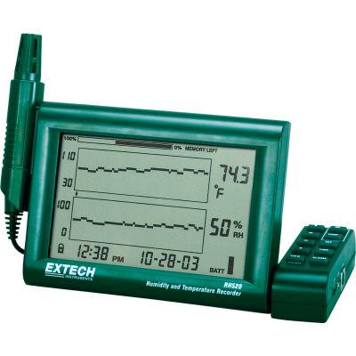 Extech RH520A Humidity+Temperature Chart Recorder W/Detachable Probe, Green, Universal AC