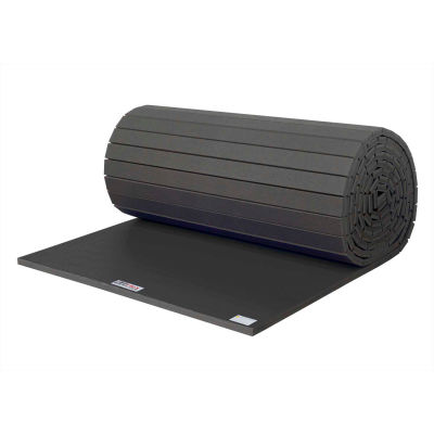 "EZ Flex Sport Mats Wrestling Mat 1-5/8"" Thick 6' x 30' Single Roll Black"
