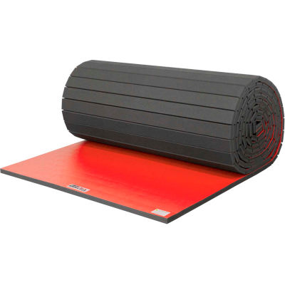 "EZ Flex Sport Mats Wrestling Mat 1-5/8"" Thick 6' x 36' Single Roll Red"