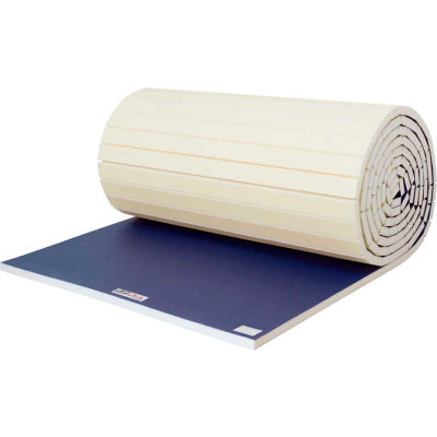 "EZ Flex Sport Mats Wrestling Mat 2"" Thick 6' x 40' Single Roll Navy"