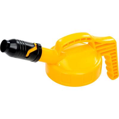 Oil Safe Stumpy Pour Spout Lid, Yellow, 100509