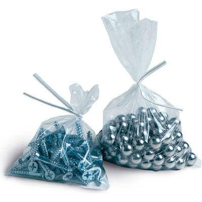 "Layflat Poly Bags, 4""W x 4""L 2 Mil Clear, 1000/CASE"