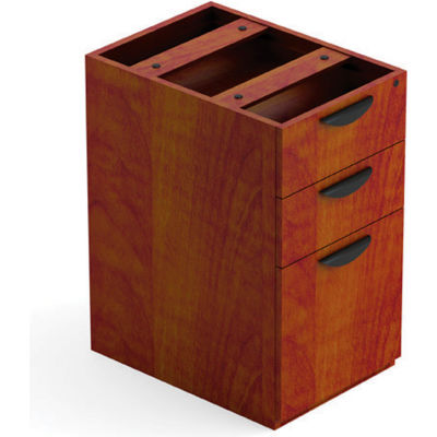 Offices To Go™ 3 Drawer Pedestal in Dark Cherry - Executive Modular Furniture