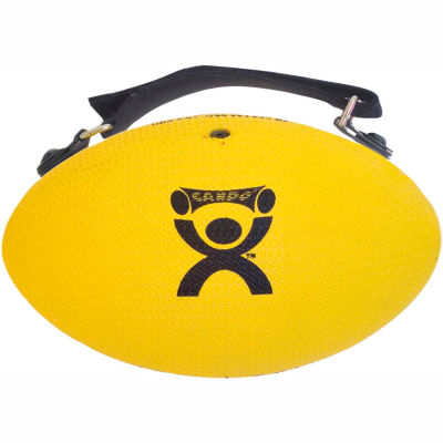 CanDo® Handy Grip™ Weighted Ball, 2 lb., Yellow