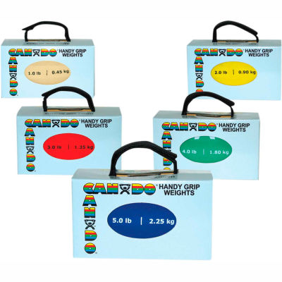 CanDo® Handy Grip™ Weighted Ball, 5-Color Set