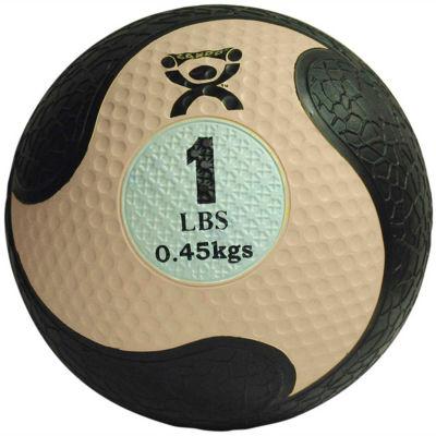 """CanDo® Firm Medicine Ball, 1 lb., 8"""" Diameter, Tan"""