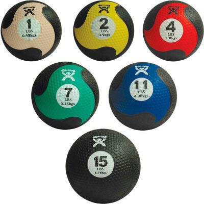 CanDo® Firm Medicine Ball, 5-Piece Set (1 Each: 2, 4, 7, 11, 15 lb.)