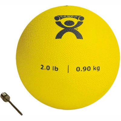 "CanDo® Soft Pliable Medicine Ball, 2 lb., 5"" Diameter, Yellow"