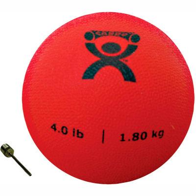 "CanDo® Soft Pliable Medicine Ball, 4 lb., 5"" Diameter, Red"