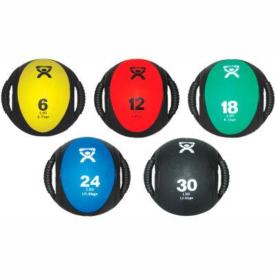 """CanDo® Dual-Handle Medicine Ball, 9"""" Dia (23 cm), 5 Color Set"""