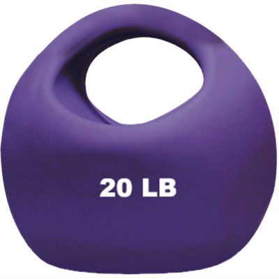 "CanDo® One-Handle Medicine Ball, 20 lb., 9"" Dia., Purple"