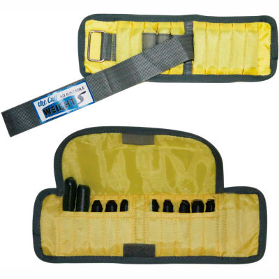 Cuff® Adjustable Adult Wrist Weight, 2 lb., Yellow, 1 Pair