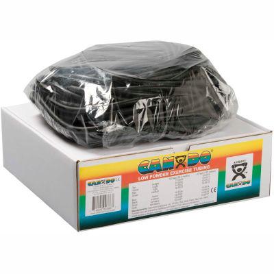 CanDo® Low Powder Exercise Tubing, Black, 100' Roll/Box