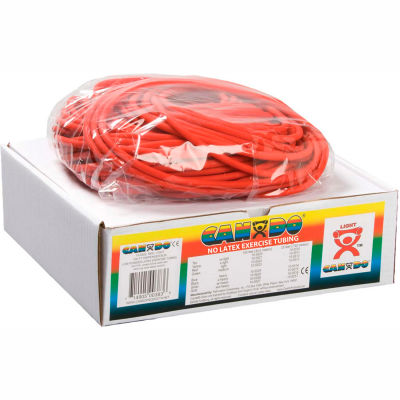 CanDo® Latex-Free Exercise Tubing, Red, 100' Roll/Box