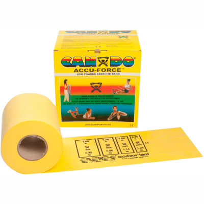 CanDo® AccuForce™ Exercise Band, Yellow, 50 Yard Roll