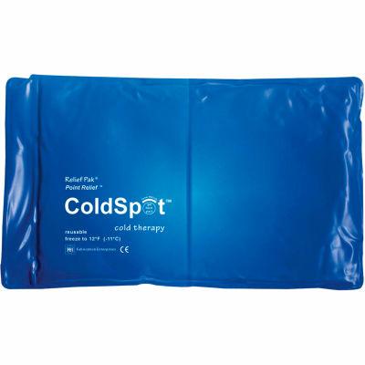"""Relief Pak® ColdSpot™ Reusable Blue Vinyl Cold Pack, Half Size 7"""" x 11"""", 12/PK"""