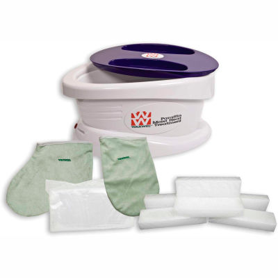 WaxWel® Paraffin Bath with 6 lb. Unscented Paraffin, 100 Liners, 1 Mitt and 1 Bootie