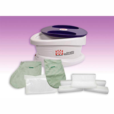WaxWel® Paraffin Bath with 6 lb. Lavender Paraffin, 100 Liners, 1 Mitt and 1 Bootie