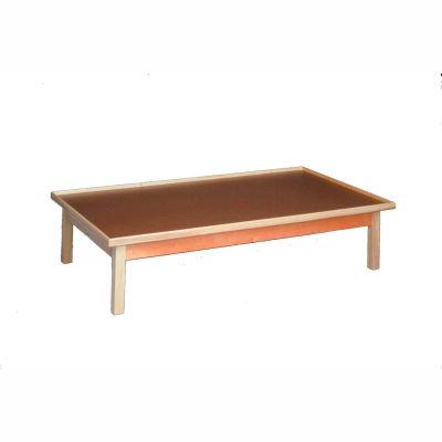 "Fixed Height Raised Rim Platform Table, 72""L x 36""W x 19""H"
