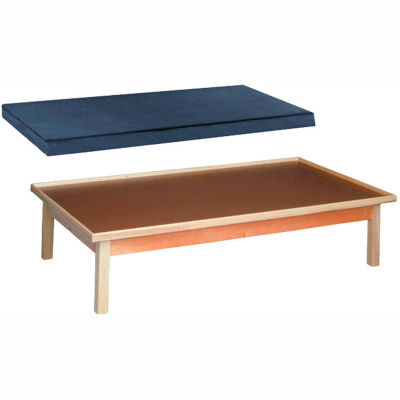 "Polyurethane Foam Mat For Raised Rim Platform Table, 84""L x 48""W x 2""H"