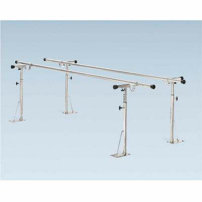 Floor Mounted Parallel Bars, Height/Width Adjustable, 20' L