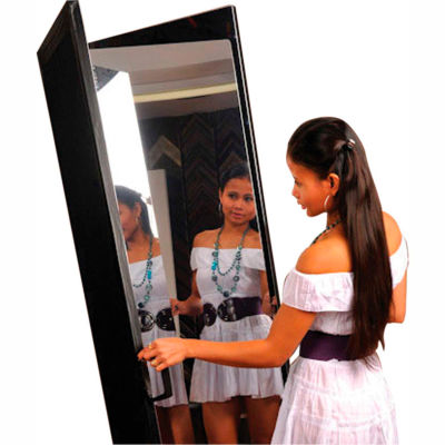"Ultra-Safe™ Glassless Mirror, Free-Standing, 2-Panel, 24""W x 72""H Panels"
