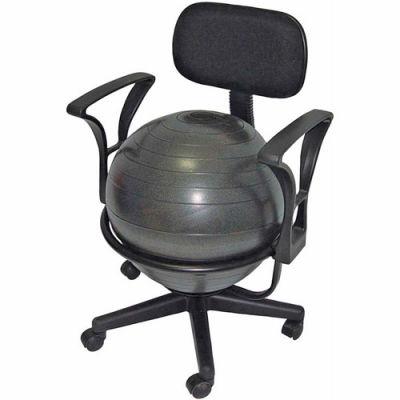 "CanDo® Metal Mobile Ball Chair with Arms, 18"" Dia. Ball"