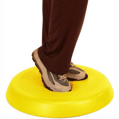 "CanDo® Aerobic Pad, Circular, 20"" Diameter, 2"" Thick, Yellow"